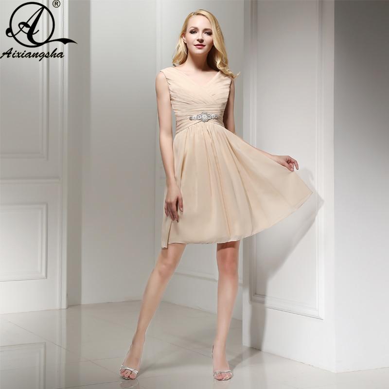 Vestido De Novia Bridesmaid Dress Champagne Color Dress 2018 Elegent
