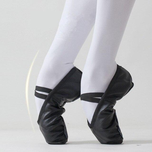 4a1845ace حذاء راقصة البالية كبيرة Size22-42 لينة الفتيات الاطفال حذاء راقصة البالية  النساء الباليه الرقص
