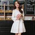 Куртка юбка Костюм женский Пиджак весна лето Свободные пальто Из Двух частей костюм Короткая юбка мода марка женщины