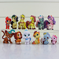 12 Pçs/lote Princesa Palácio Pet Filhote de Cachorro da Branca de Neve PVC Coleção Toy Action Figure Modelo Boneca Presentes para As Crianças 3 -- 5 cm