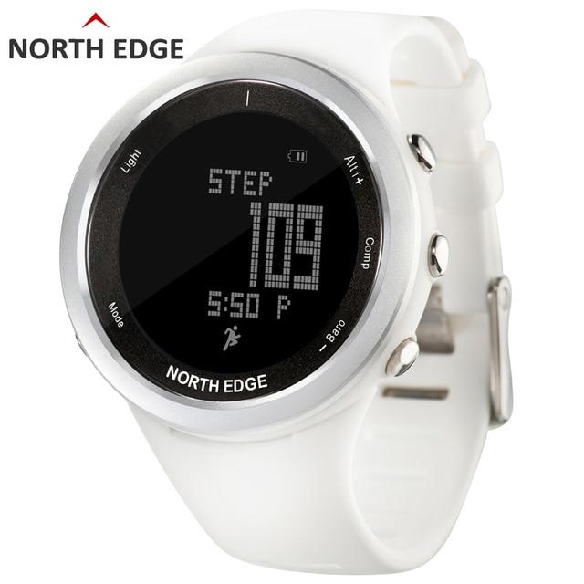 Женские спортивные часы белый умные часы для женщин Открытый кроссовки Спорт альтиметр барометр компас Туризм часов Северной край