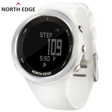 hot deal buy women sport watch white smart watches for woman outdoor running sports altimeter barometer compass hiking hours north edge