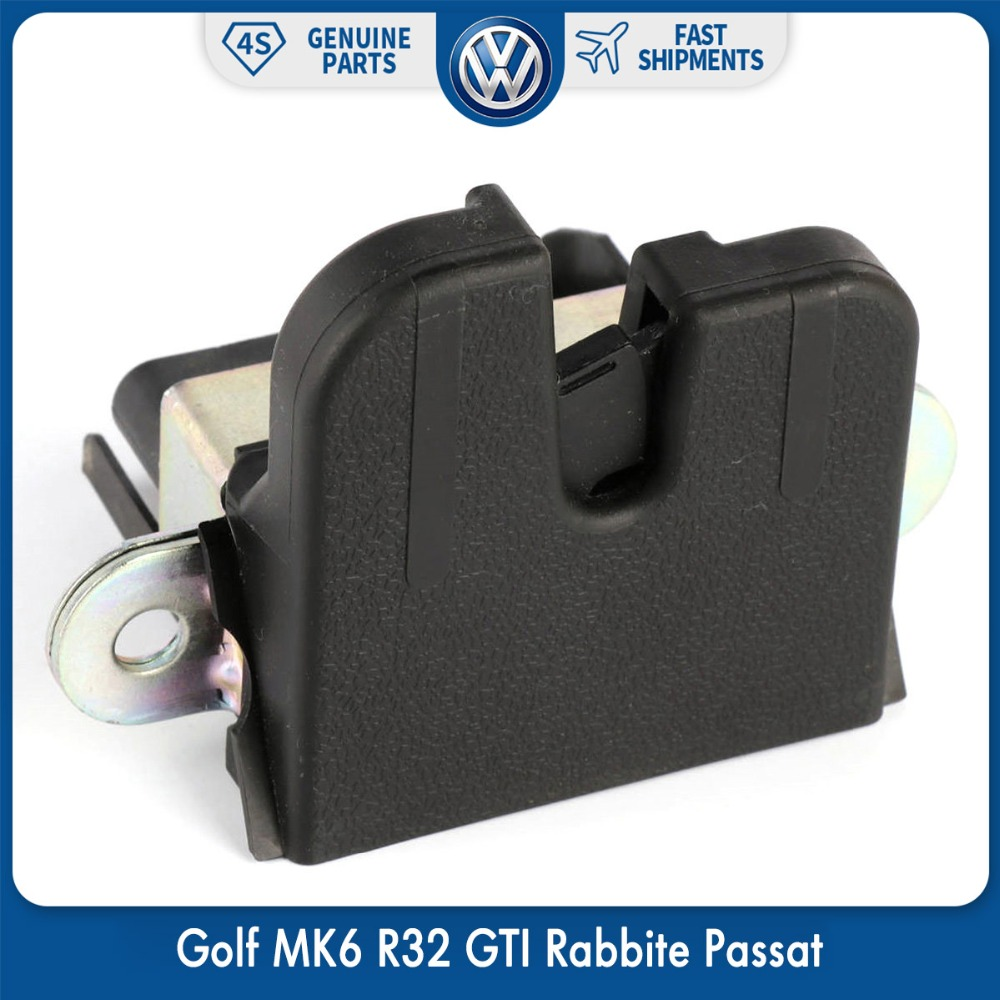 OEM Original Rear Trunk Boot Lid Lock Latch For VW Volkswagen Golf MK6 R32 GTI Rabbite Passat Variant 5KD 827 505 9B9 new oem ceiling rear dome reading lamp for golf gti r32 passat jetta beetle 1999 2005 3b0947291 3b0 947 291 beige grey