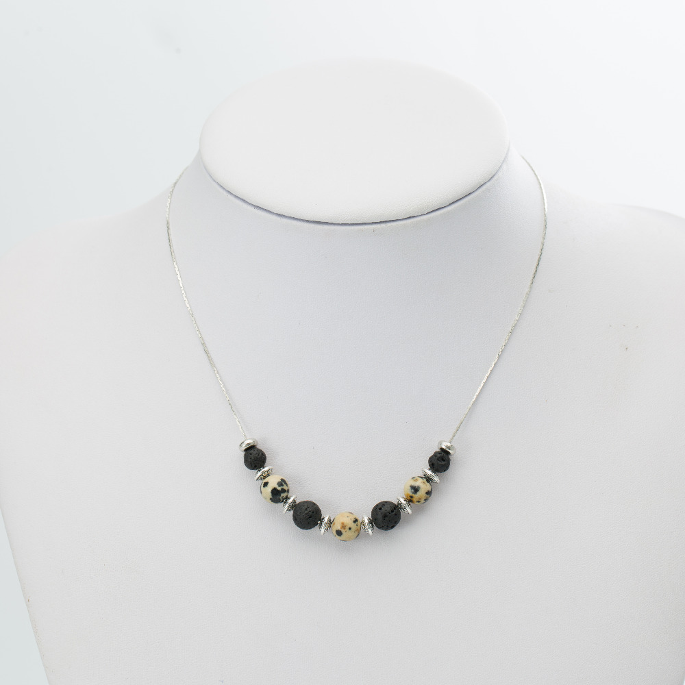 GVUSMIL New Product 8MM Chain Fashion Necklace Lava Stone Jewelry Charm Necklace