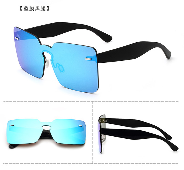 1ad0845c49f3e Ive oversize rodada lente azul rosa orange preto quadrados óculos de  armação de acetato de óculos