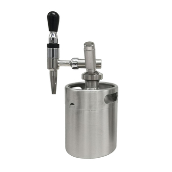 Homebrew Beer Stainless Steel Keg Nitro Coffee Dispenser With 2L Keg for Mini Craft Beer Keg Brew Tool Accessories High Quality