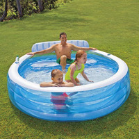 High Quality 224*216*76CM Round Inflatable Swimming Pool Piscine Gonflable Kids Pool Piscine Zwembad Piscina