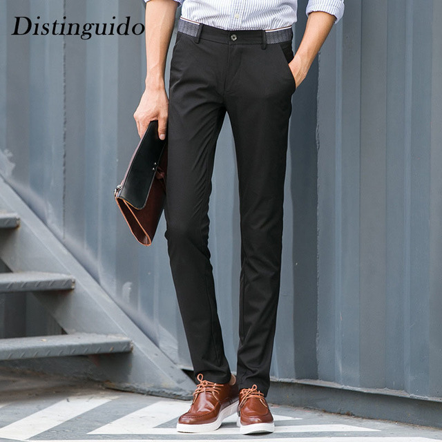 2018 New Spring Latest Smart Casual Men S Pants Solid Color Mid