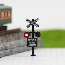 1 компл. N Масштаб 3 см железнодорожные переходы сигналы 1:150 светильник движения 2 головки светодиодный+ схема настольная вспышка JTD1507RP