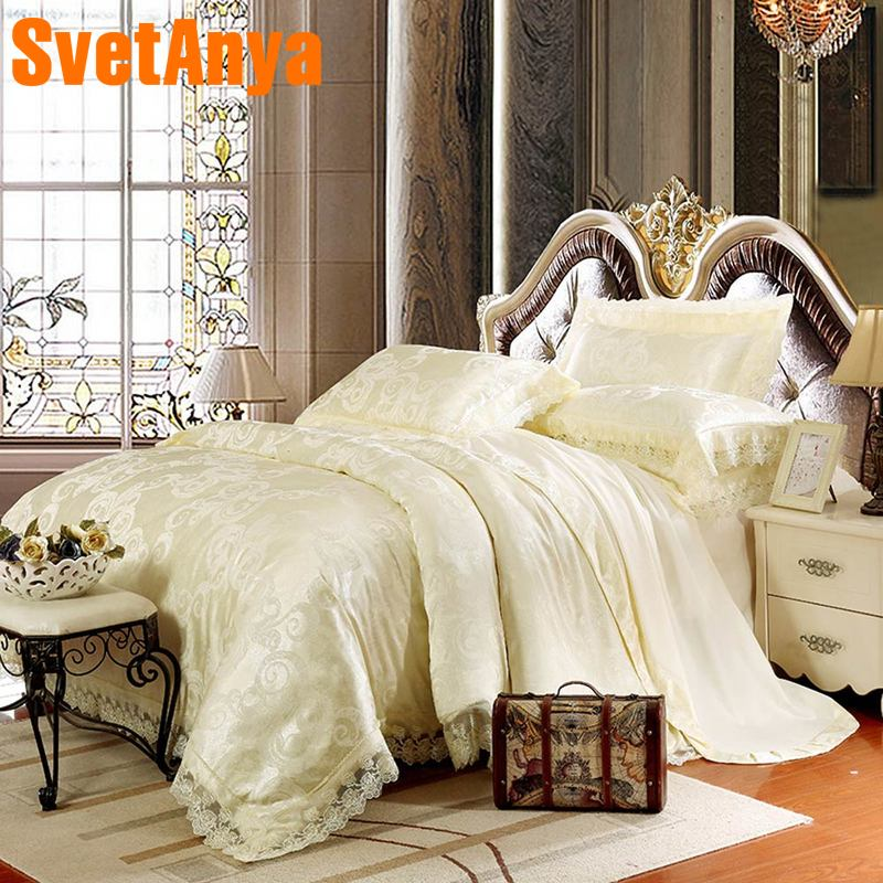 Svetanya soft Linens 6in1 4in1 jacquard Lace Bedding Set double Queen king sizeSvetanya soft Linens 6in1 4in1 jacquard Lace Bedding Set double Queen king size