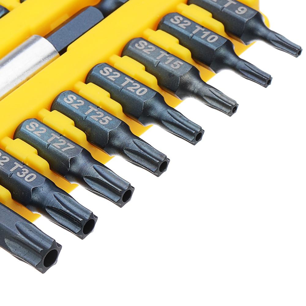BROPPE 17Pcs 1//4 Hex Shank Screwdriver Bits Set Torx Phillips Electric Screwdriv