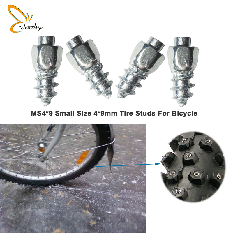 Marrkey 9mm Spikes for Tires Tires Studs Screw-in studs Ice stud Snow Chains for Bicycle Bike shoes Boots MS4-9 100PCS