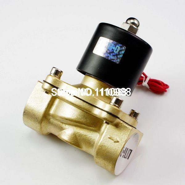 Water Gas Air Fuel NC Solenoid Valve 1/2 BSPP 12/24/110/220V 20pcs free shipping 3v120 06 nc solenoid air valve 3port 2position 1 8 solenoid air valve single nc normal closed double control