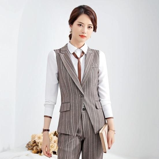 New 2019 Formal Fashion Ladies Waistcoat Women Vest Elegant Work Wear  Office Uniform Styles Vests & Waistcoats  - AliExpress