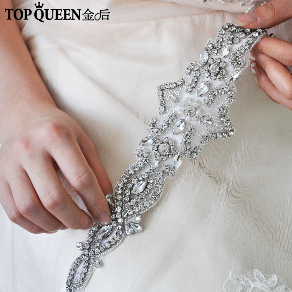 TOPQUEEN H245 Hot Sales Bridal Headbands Diamond Wedding Hair Accessories With Crystals Bridal Headpieces Fast Shipping Stock
