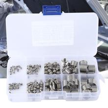 145Pcs M2-M12 Wire Thread Insert Stainless Steel Wire Screw Sleeve Thread Repair Insert Kit Set Screw Thread Repair ferreteria m12 m12 80 100 110 m12x80 100 110 304 stainless steel 304ss car repair screw wedge concrete anchor sleeve expansion bolt