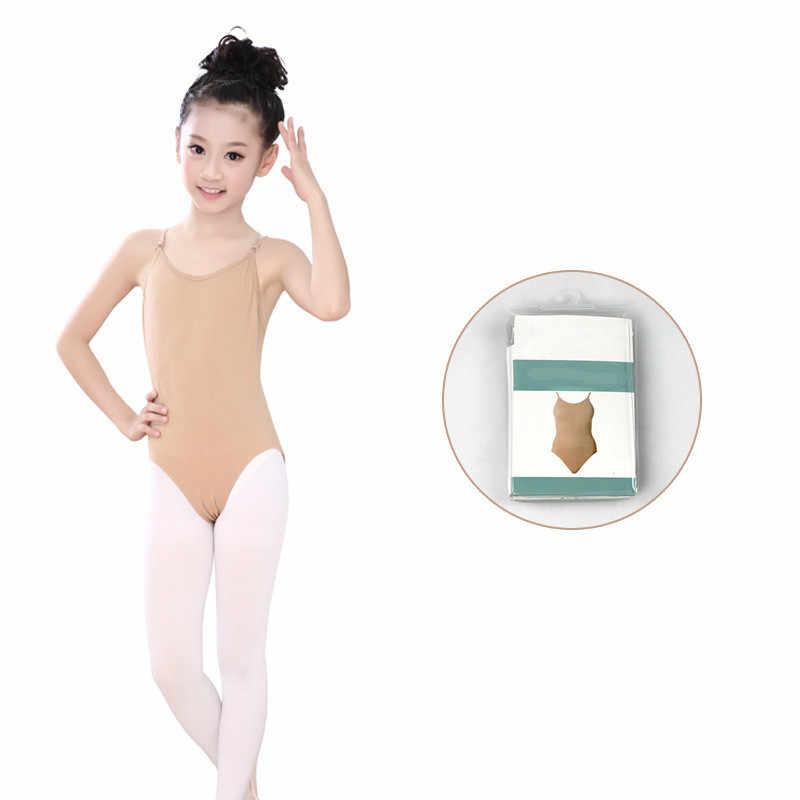 Body skóry dzieci dziewczyny trykoty gimnastyka dla dziewczynek bez rękawów Nude trykot dzieci taniec baletowy Leotard Flesh bielizna