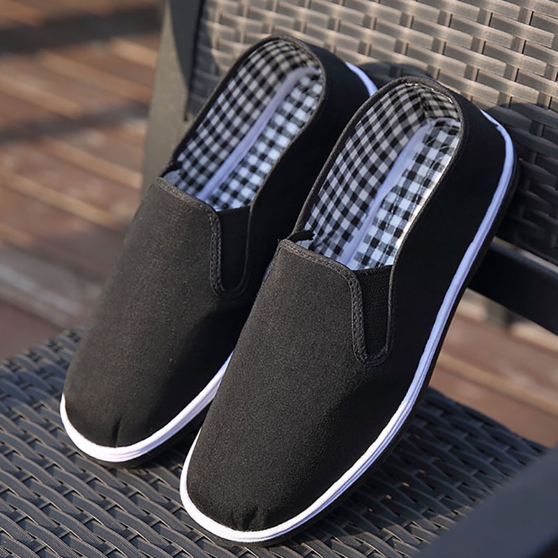 USHINE Top Quality Black Cotton Bruce Lee Vintage Chinese Kung Fu Shoes Wing Chun Tai Chi Martial Arts Pure Cotton Shoes Slipper