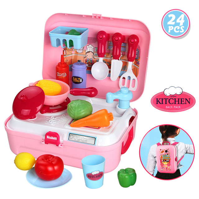 kitchen miniature floors for kitchens baby pretend play mini cooking tools cutting fruit set girls games gift kids children