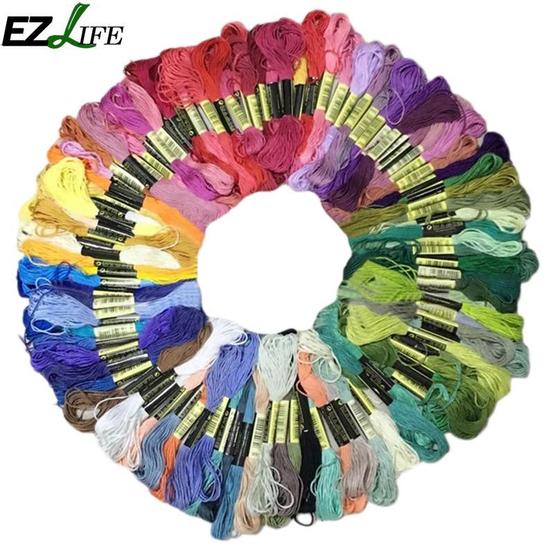 Cruz puntada hilos estilo único de 50/100/150 Unid mezcla colorida similares Dmc hilo de algodón bordado hilo dental de madejas de