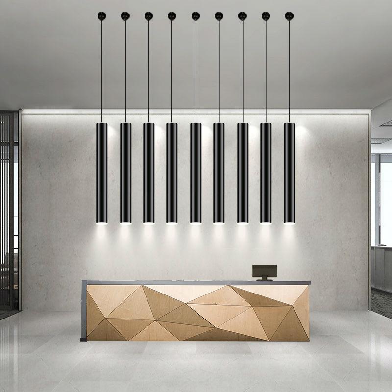 Modern led pendant light lamp for living room Single Tube restaurant lighting Fixture with Integrated LED bulbs