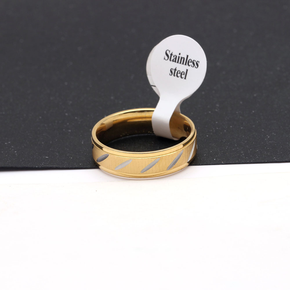 316L Stainless Steel Finger Rings men wedding band jewelry gold color Womans titanium steel rings for Stainless rings jewelry