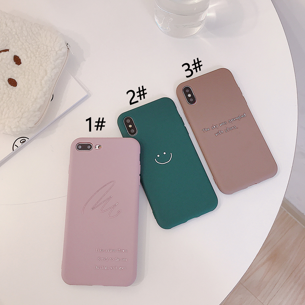 LISM Casing For iPhone 6 6S 7 8 Plus X XR XS Max Lovely Cute Simple Smile Soft TPU Phone Case Cover Anti knock Protector in Fitted Cases from Cellphones Telecommunications