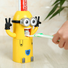 BAISPO Bathroom Products Cute Design Set Cartoon Toothbrush Holder Automatic Toothpaste Dispenser Toothpaste  Squeezers