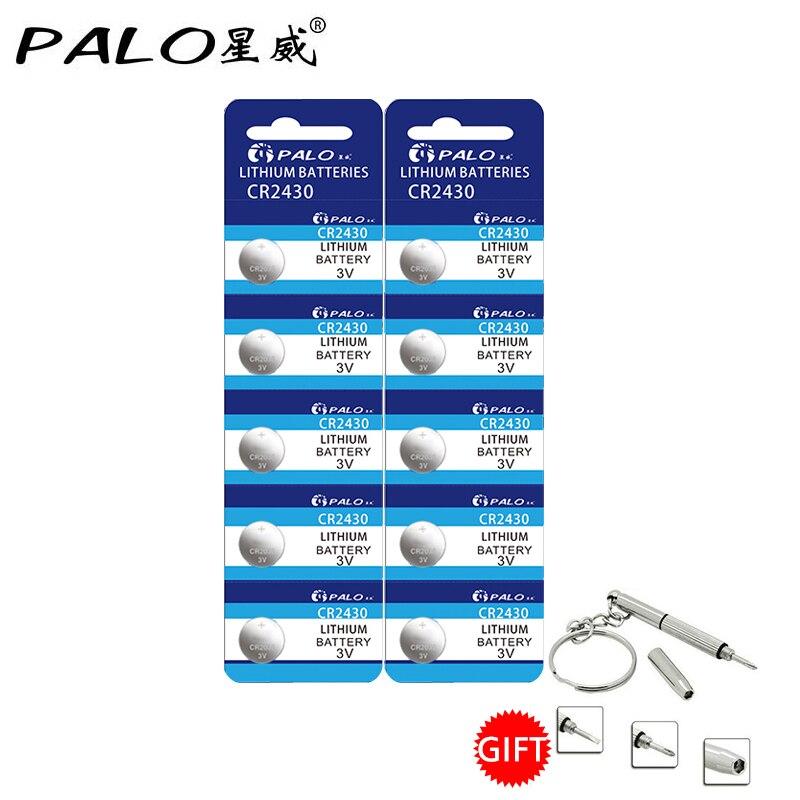 PALO 11.11 Big Promotion 10Pcs 3V DL2430 BR2430 ECR2430 CR2430 Watch Button CoCells Lith ...