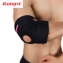 цена на Kuangmi Elbow Pads breathable Elbow Support Brace Basketball Arm Compression Volleyball Sports Fitness Ultra Guard cotoveleira