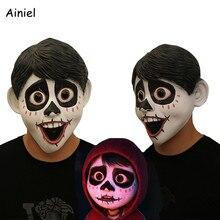 Фильм аниме CoCo Miguel костюмная Маска Косплей Хэллоуин полный голова лицо страшный латекс Необычные шаровые шлемы реквизит маски для мужчин взрослых детей