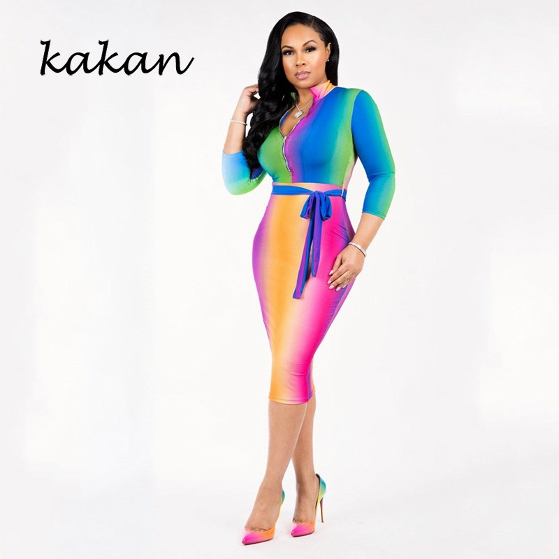 Kakan 2019 spring new women 39 s print dress fashion sexy bow V neck dress in Dresses from Women 39 s Clothing