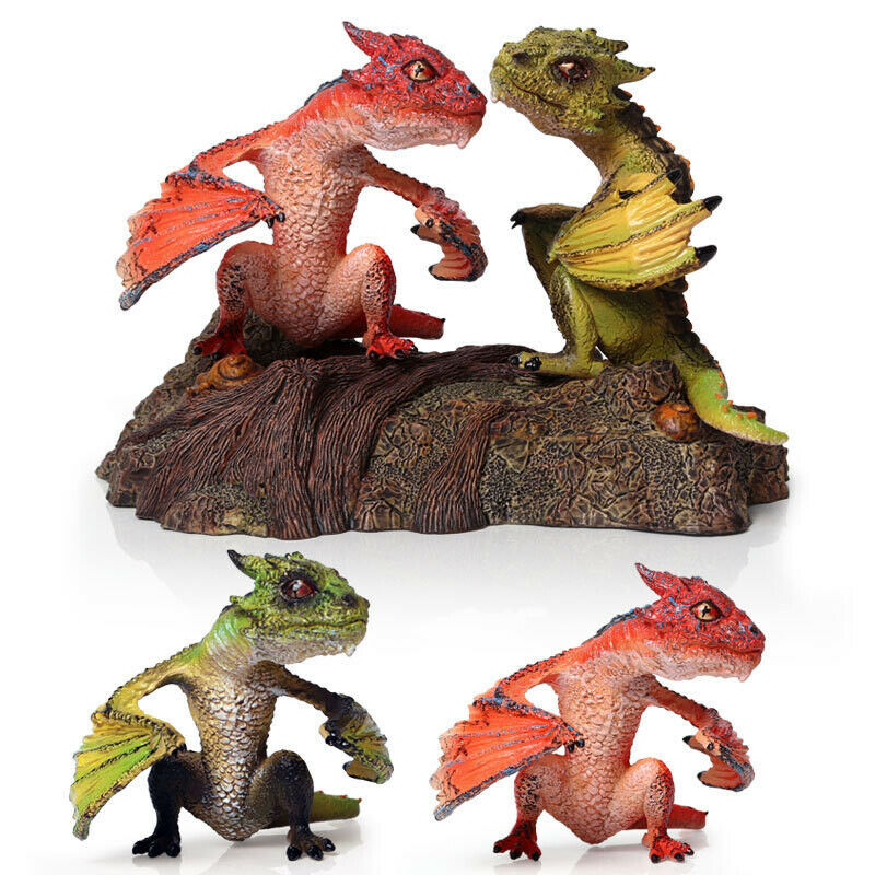Smaug Komodo Dragon Dinosaur Figurine Figure Model Base Decoration Toy Collector