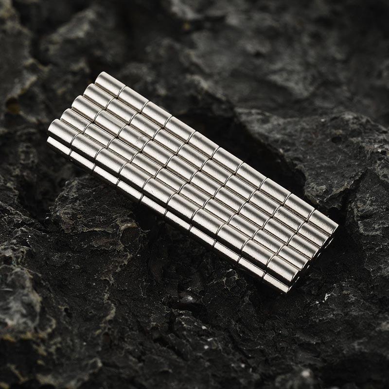 (100 pcs/ set) FandyFire 2*3mm NdFeB Magnet Fun Magnets ND-FE-B Permanent strong magnetic small magnet sheet- Silver