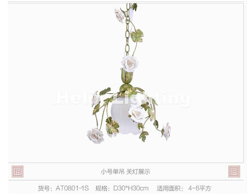 Nordic Newly Modern LED Floral Pedant Lights Rose Flowers Color Lampshade Chandeliers LED E14 Lustres De Cristal Pendant Lamp ...