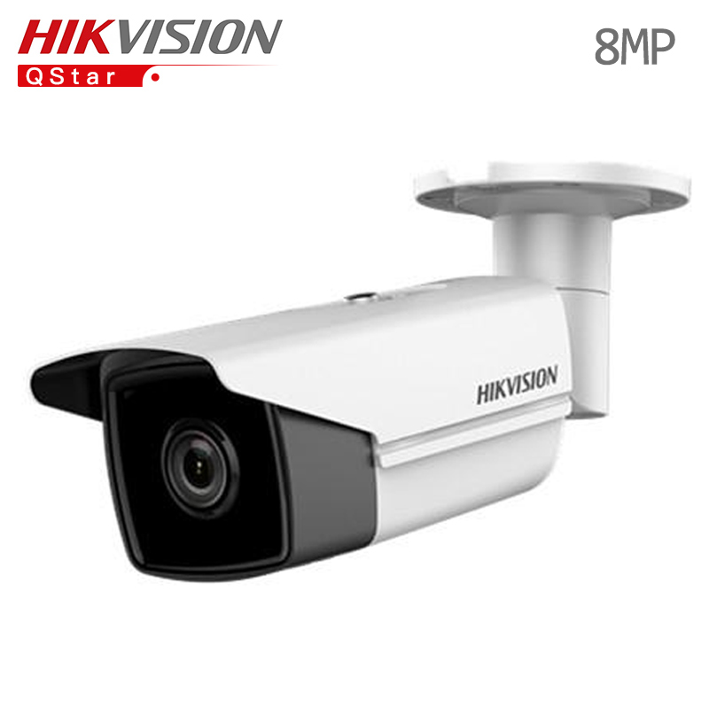 Hikvision Hik Original International 4K Surveillance Camera DS-2CD2T85FWD-I5 8MP Bullet CCTV IP Camera H.265 IP67 POE WDR IR 50m hikvision 3mp low light h 265 smart security ip camera ds 2cd4b36fwd izs bullet cctv camera poe motorized audio alarm i o ip67