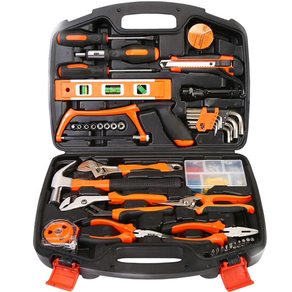 106 pcs household tools repair tool kit garden home tool set kit box repair hard case diy handy - Household tools ...