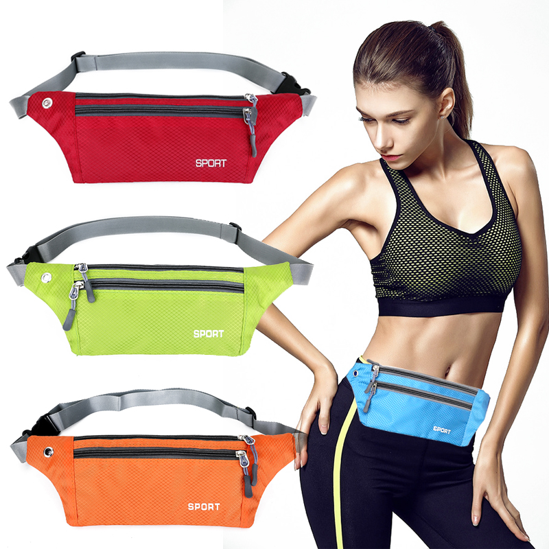 Running Belt Waist Bags Unisex Jogging Gym Mobile Phone Bag Sports Wrist Bag Waterproof Bum Pouch Bag Outdoor Sport Fanny Pack