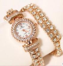 FA0496 Женщины Watche Роскошный Кристалл Драгоценный Браслет Наручные Часы Платье Часы Женщины Дамы Золотые Часы Мода Женские Часы Марки