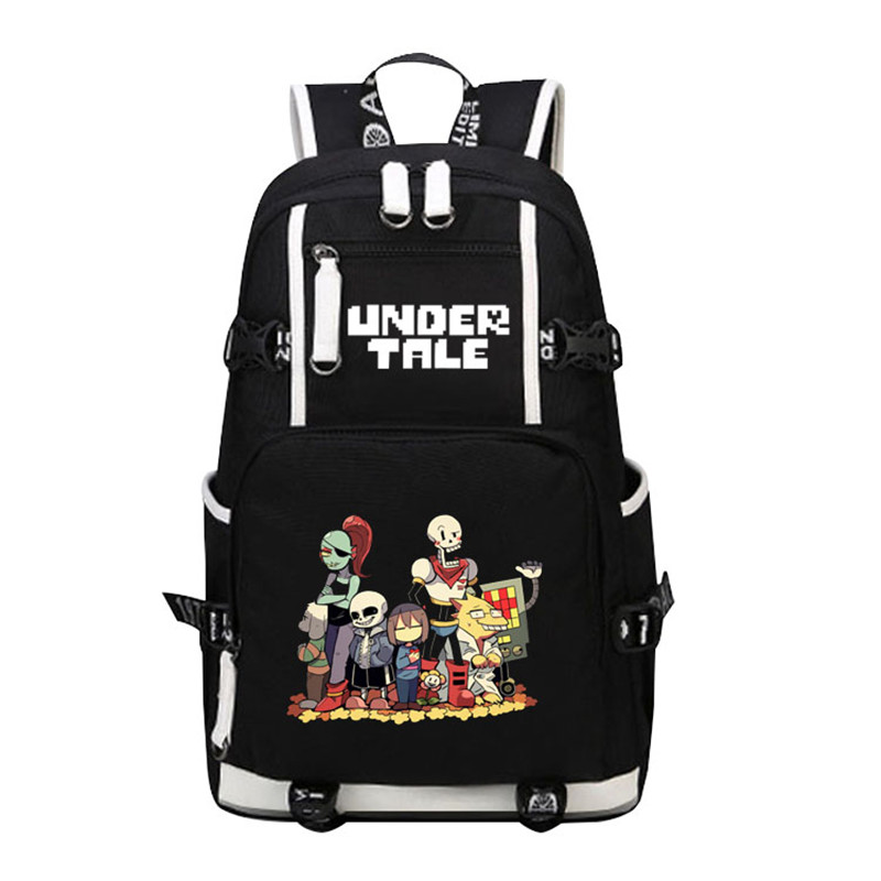 High Quality 2017 New Undertale Sans Papyrus Skeleton Brothers Printing Backpack Canvas School Bags Travel Laptop Backpack undertale backpack sans and papyrus school backpacks boys girls bag children school bags undertale schoolbags kids gift bag