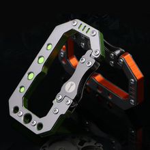 H1066-A EDC Survival Camping Hiking Outdoor multi-functional key chain backpack buckle hook carabiner lock buckle quick buckle
