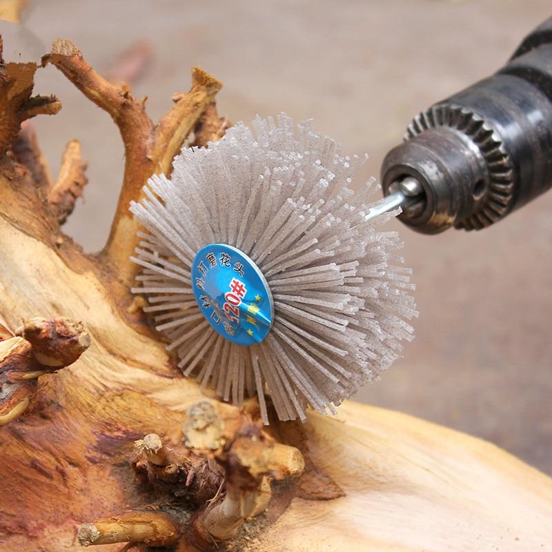 Testa abrasiva 80 * 35 * 6mm per intaglio del legno Mobili in mogano Lucidatura Utensili abrasivi 1pz