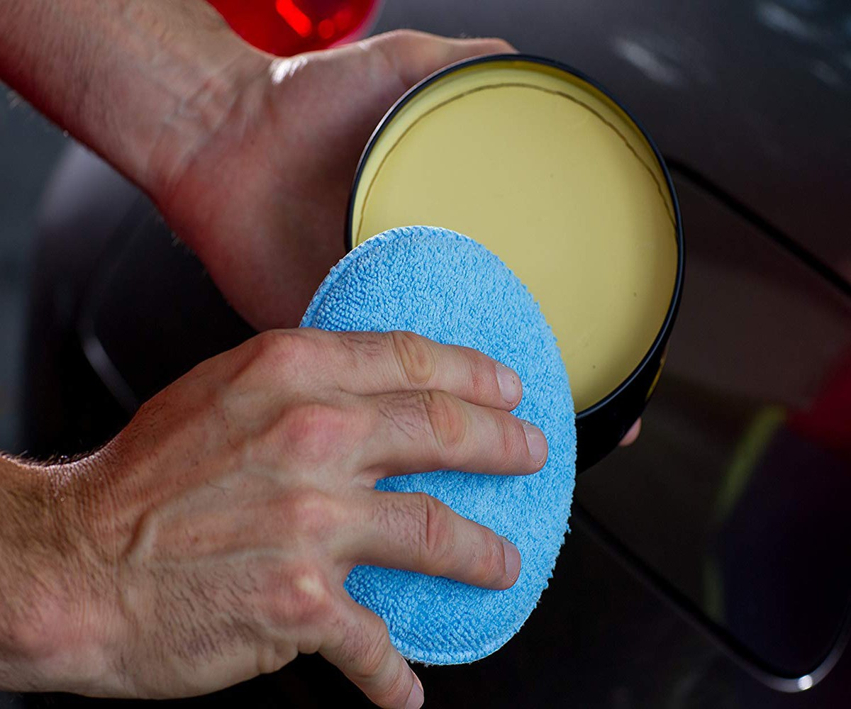 Image 3 - Soft  Car Wax Applicator Pad Polishing Sponge for apply and remove wax  2pcs   Home Cleaning #YL1-in Waxing Sponge from Automobiles & Motorcycles