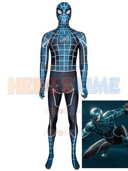 Peur elle-même PS4 Spider-Man Spiderman Costume 3D imprimé Spandex Cosplay Costume pour la fête d'halloween