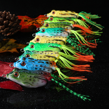 Goture 9pcs/set Frog Fishing Lure 5.5CM 12.5G Topwater Fishing Wobblers Soft Artificial Bait for Snakehead Silicone Pesca Isca