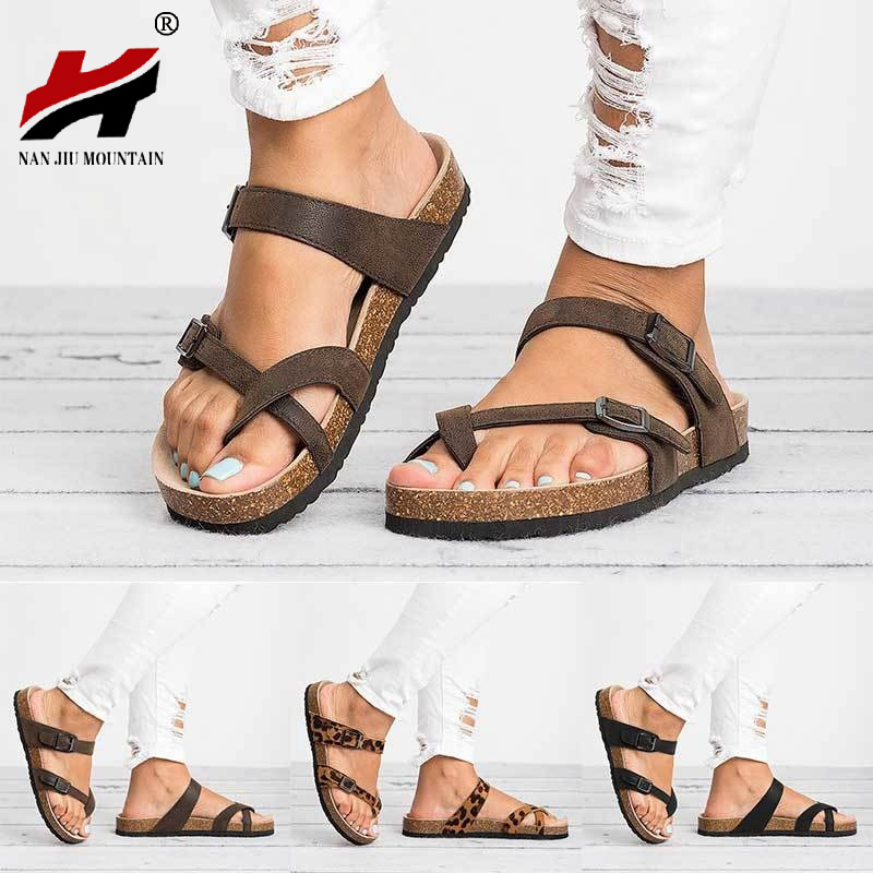 NAN JIU MOUNTAIN 2019 Summer Flat Woman Sandals Belt Buckle Toe Thick Bottom Roman Sandals Casual Shoes Slippers Plus SizeNAN JIU MOUNTAIN 2019 Summer Flat Woman Sandals Belt Buckle Toe Thick Bottom Roman Sandals Casual Shoes Slippers Plus Size