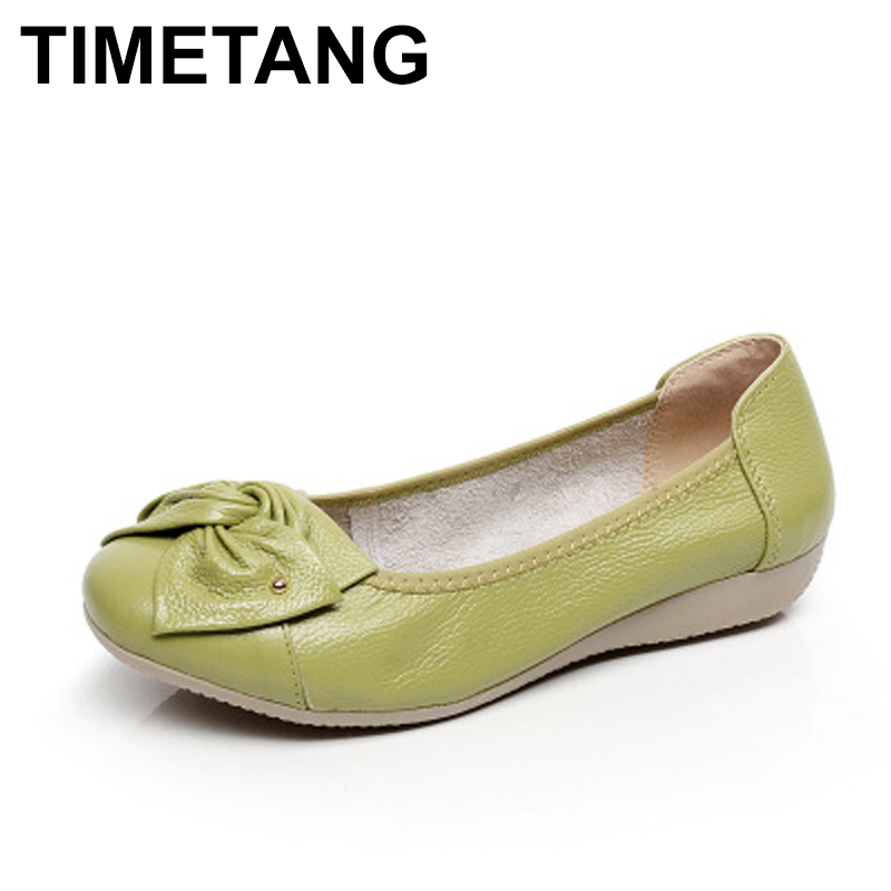 TIMETANG Plus size 34-43 women genuine leather flat shoes woman work shoes newest fashion female casual single shoes women flats plus size 34 43 women shoes genuine leather flat shoes woman maternity casual work shoes 2018 fashion loafers women flats