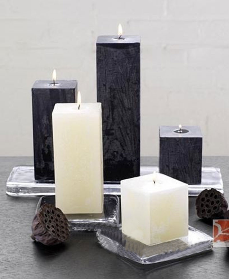 5pcs Pack Square Block Flower Scented Candles Wedding Party Decor Home Decoration Showroom Art Decor Smokelss