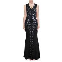 Frauen Lange Verbandkleid, Figurbetontes Kleid Bodenlangen Neueste Cocktail Party Kleid 2223 XS S M L