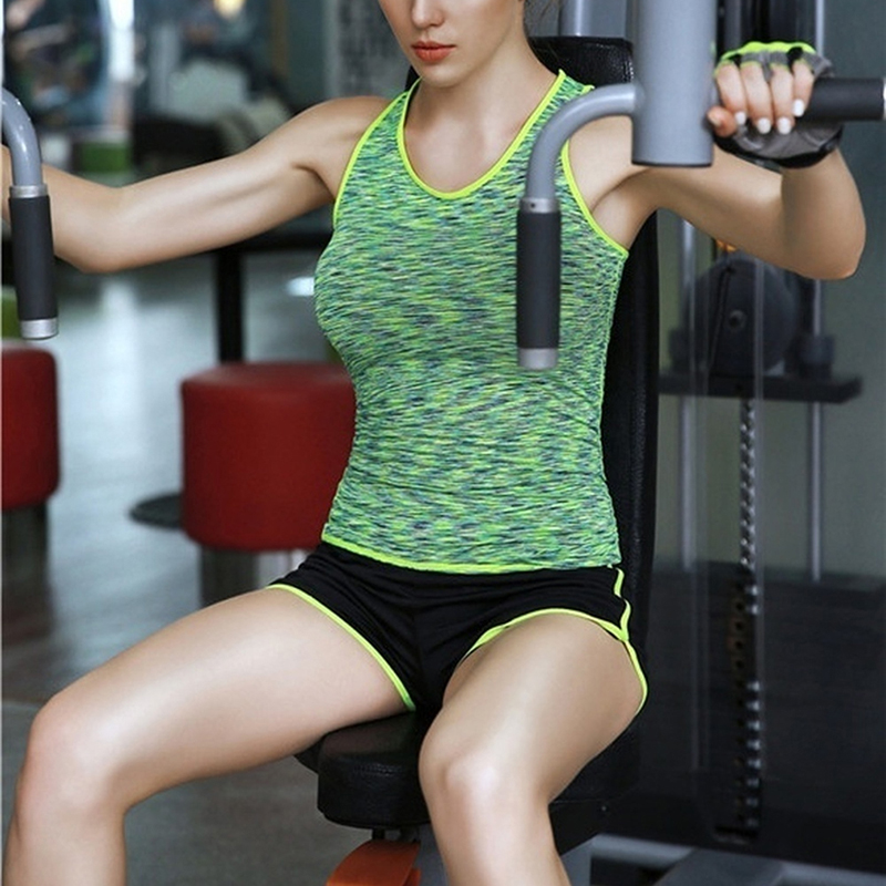 Women Solid Slim Top Fitness Gym Tank Top Female Dry Fit -1438